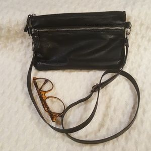 Nat & Nin Black Vicky Leather Clutch Crossbody